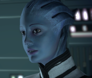 Sure, Liara looks sweet and innocent now, but that's her way to catch you off guard so she can come in for the kill