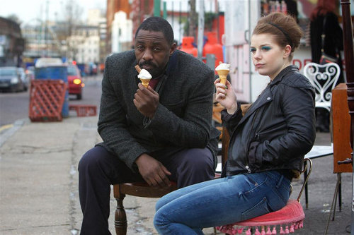 Also, Idris Elba eating ice cream? Hell, I'd watch him collate papers. © BBC Drama Productions (source)