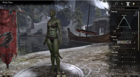 Look at those Argonian abs.