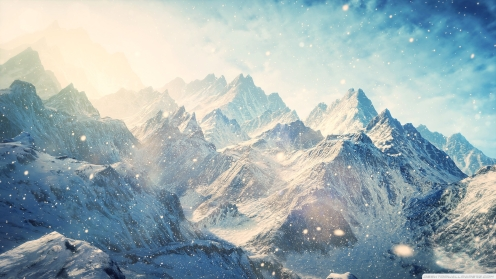 Snow-Mountains-Landscapes-The-Elder-Scrolls-V-Skyrim-1920x1080