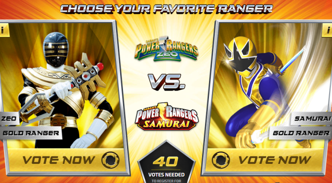 Vote for your favorite Power Rangers, enter to win a gold morpher