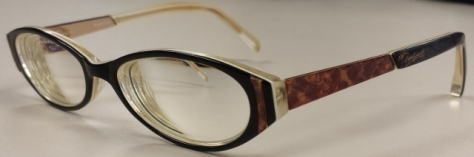 My flashiest pair in recent memory, what with the plastic-metal, black-tortoise shell combo.