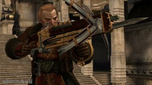 """It was Varric, and not Hawke, that saved the day with his lovely """"Bianca."""" I still don't know how that happened."""