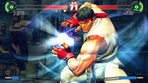 Ryu packing some serious fists of steel.